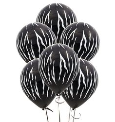 Zebra Theme Baby Shower Balloons; Safari Latex Balloons; Jungle Theme Birthday Party Decorations; Kate Spade Theme Balloons; Wild One decor by SimplyCreatedForYou6 on Etsy