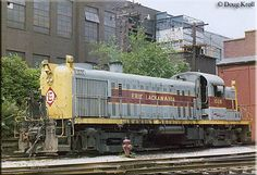 Erie Lackawanna RS-3 #1026 rests between assignments at the engine terminal in Akron, Ohio on June 24, 1975.