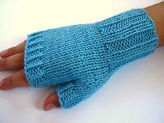 Fingerlose Handschuhe Kleinkinder hellblau von frostpfoetchen