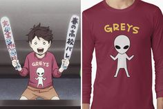 Oikawa Tooru's Alien Shirt Design as seen in Haikyuu! • Also buy this artwork on apparel, kids clothes, phone cases, and more.