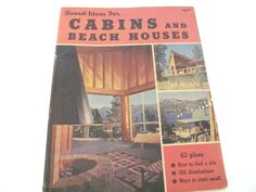 Vintage Cabin Beach House Book 1950's Sunset by ThirstyOwlVintage, $21.50