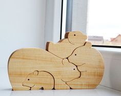 Easter Kids gifts bunny - Wood rabbit - Wooden Puzzle bunny - easter decorations - montessori toys - Kids gifts - rabbits family ------------------------------------------------------------------------------------------------------ Ready to ship. ------------------------------------------------------------------------------------------------------ These are family of rabbits are both fun and educational and were made to develop kids logical thinking and encourages creative play. Mommy and…