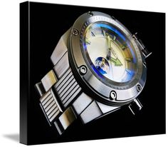 """Android Powerjet 90S5 watch canvas print in Stretched Canvas configuration. Price starts at $58 (Petite 8"""" x 10""""). http://www.imagekind.com/Android-Powerjet-S_art?IMID=01fe2350-6d55-436b-976c-0c32d4c35c97"""