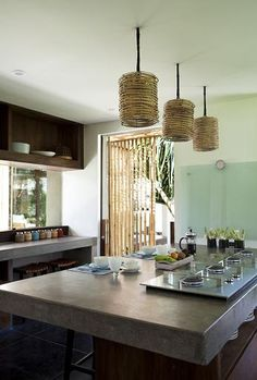 Bali kitchen, like countertops