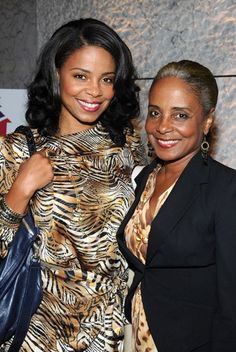Sanaa Lathan and her mother
