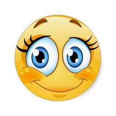 Smiley Face Sticker - http://www.zazzle.com/smiley_face_sticker-217961034434577393