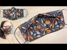 Diy Sewing Projects, Sewing Hacks, Sewing Tutorials, Sewing Patterns, Easy Face Masks, Diy Face Mask, Diy Clothes Rack, Diy Clothes Videos, Fashion Face Mask