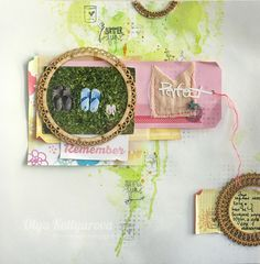 Watercolor plus chipboard from Olya Kotlyrova