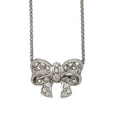 Diamond bow neckles