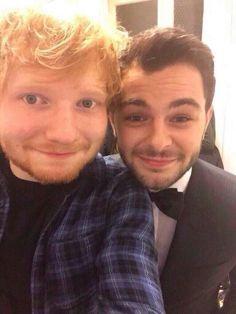 Ed Sheeran and Lorenzo Fragola at the Sanremo festival!