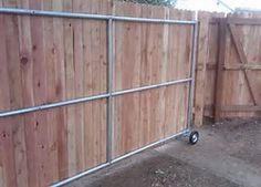 Image result for Wood Sliding Gate Kits