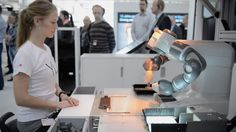 Come see YuMi live and in person at its worldwide debut during Hannover Fair in Hannover, Germany from April Hall 11 Booth Abb Robotics, April 13, Robots, Innovation, Lab, Germany, Tech, Future, Google