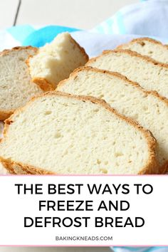 The Best Ways to Freeze and Defrost Bread (Sliced, Quick Breads, and Dough) - Baking Kneads, LLC Freezing Bread Dough, Frozen Bread Dough, How To Freeze Bread, Quick Bread, Bread Machine Recipes, Bread Recipes, Freezer Friendly Meals, Bread Making, Frozen Cake