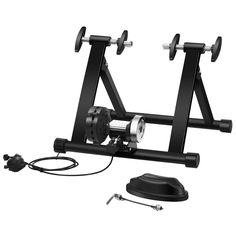 This indoor steel bicycle stand is made of solid steel and adopts pyramid structure design to ensure its stability. Bicycle Workout, Cycling Workout, Bicycle Exercise, Bmx, Bicycle Stand, Double Lock, Bike Trainer, Bike Wheel