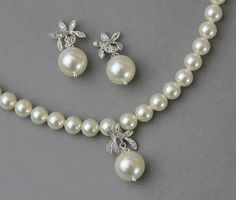 Pearl Orchid Jewelry Set
