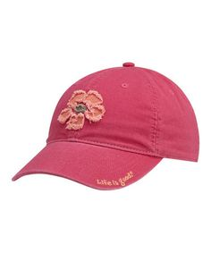 Love this Cherry Tattered Hibiscus Chill Baseball Cap - Women by Life is good® on #zulily! #zulilyfinds