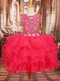 Dress National Level Pageant Formal Glitz Little Girl Junior Kid Party Prom Gown