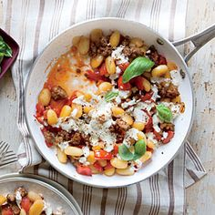 Cheesy Skillet Gnocchi recipe from Cooking Light