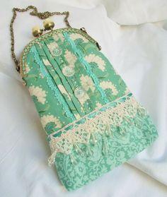 Mitzi  handmade wristlet purse / bag with by BirdsongHandmadeBags
