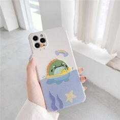 Embroidery Cute Dinosaur Cartoon Phone Case For Iphone - For Iphone 11 Pro