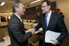 Alberto Fabra junto a Mariano Rajoy en la Ejecutiva Nacional del PP.