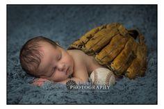Onalaska Wisconsin Newborn Photographer - baseball baby photo idea www.endlessimagesphotography.com