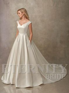 A luxe satin princess style wedding dress in a subtle shade of gold. Eternity A luxe satin princess style wedding dress in a subtle shade of gold. Twilight Wedding Dresses, Princess Style Wedding Dresses, Sell Wedding Dress, Luxury Wedding Dress, Colored Wedding Dresses, Perfect Wedding Dress, Designer Wedding Dresses, Wedding Gowns, Bridal Gowns