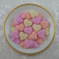 Sweetheart Mix Edwardian Heart Shaped Sugar Cubes - 60 Pieces by Sugars by Sharon on Gourmly