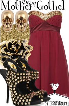 Mother Gothel by Disney Bound. Fashion Disney Outfit. Tangled. Prom.
