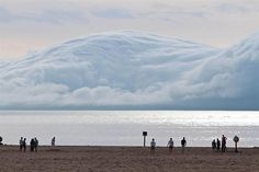 cloud formation above the sea, Holland State Park, Michigan.
