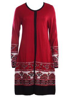 red-cardigan