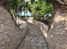 French Leave Eleuthera, handmade walkways.