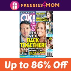 Starting our Friday with a magazine #deal - Happy Friday!  $12.99 for 52 issues of OK! http://freebies4mom.com/okaug22