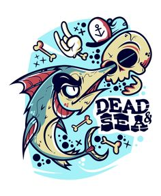 DEAD & SEA by Iván Aquino, via Behance