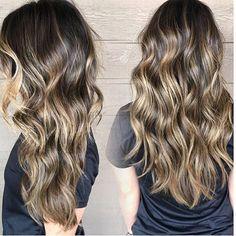 Bronzed brunette balayage. Color by @mal_joy  #hair #hairenvy #haircolor #bronde #bronze #brunette #balayage #highlights #newandnow #inspiration #maneinterest