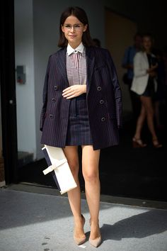 Miroslava Duma Street style New York Fashion Week primavera verano 2014 Nueva York Gran Manzana