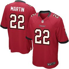 Nike Buccaneers #22 Doug Martin Red Team Color Mens NFL Game Jersey
