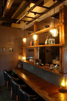 Diy Interior, Cafe Interior, Kitchen Interior, Kitchen Design, Kitchen Decor, Interior Design, Japanese Restaurant Interior, Japanese Interior, Restaurant Design