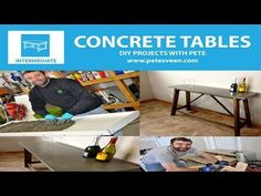 EXCELLENT step-by-step instructions on how to build concrete table tops or counter tops for beginners!