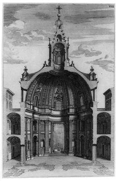 Section of Borromini's Sant'Ivo alla Sapienza, Rome