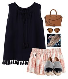 """""""i can be everything you want me to be"""" by prep470 ❤ liked on Polyvore featuring MANGO, Calypso St. Barth, Chanel, Ray-Ban and Michael Kors"""