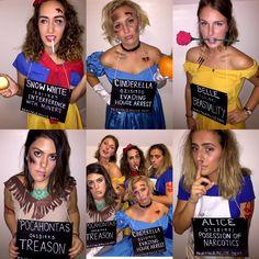 Disney Princesses incarcerated
