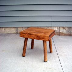 Childrens wooden chair, stool, great Christmas gift, select pine wood, activity, toddler, removable legs, portable, custom colors on Etsy, $20.00
