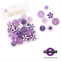 Purple Button Bouquet  7 different styles assorted by MindtheWrap