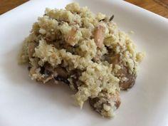 Receta de Risotto de coliflor y champiñones
