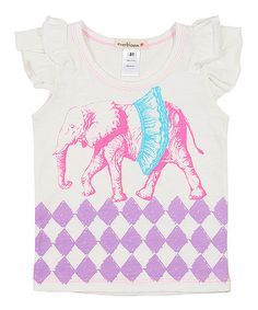 Love this Lavender & Fuchsia Elephant Tee - Infant, Toddler & Girls on #zulily! #zulilyfinds