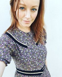 Lindy Booth - when you wish you were hanging out with one of your favorite people but they're on a different continent, wearing a pretty dress they designed is the next best thing. @leithclark @orlakiely #Lorla