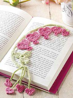What's New - Crochet - Bleeding Heart Bookmark Crochet Thread Patterns, Crochet Bookmark Pattern, Crochet Cross, Crochet Designs, Knitting Patterns, Crochet Craft Fair, Crochet Art, Crochet Gifts, Crochet Flowers
