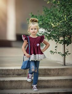 Pretty As A Picture Headband is made to match our Itty Bitty top No returns, exchanges or refunds on accessories due to hygiene reasons. Little Girl Outfits, Little Girl Fashion, Cute Little Girls, Little Girl Dresses, Toddler Outfits, Kids Outfits, Kids Fashion, Kids Frocks, Trendy Kids