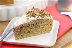 Hungry Girl recipe for guilt-free Hummingbird Cake. Pin and make today!